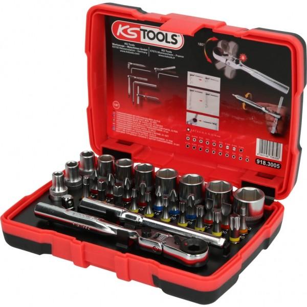 """KS-TOOLS 1/4"""" TORSIONPOWER BIT-STECKNUSS-BOX, 33-T"""