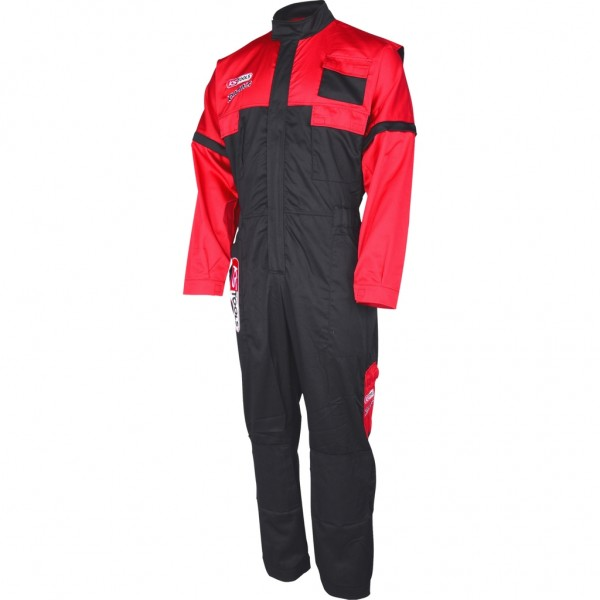KS-TOOLS OVERALL, ROT/SCHWARZ, XL