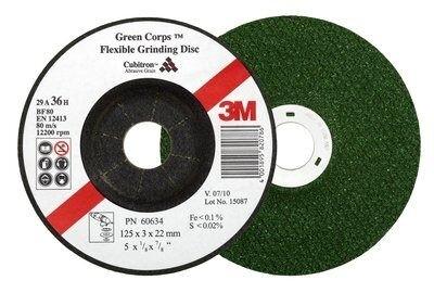 3M™ GREEN CORPS™ FLEXIBLE SCHRUPPSCHEIBE, 125 MM,
