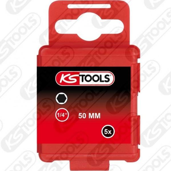 """KS-TOOLS 1/4"""" CLASSIC BIT INNENSECHSKANT, 50MM, 2,"""